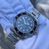 Rolex Submariner 114060 No Date Stainless Steel Ceramic Wristwatch Box Papers Circa 2018