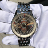 Breitling Montbrilliant Datora A2133012 Chronograph Stainless Steel Brown Wristwatch Box & Papers