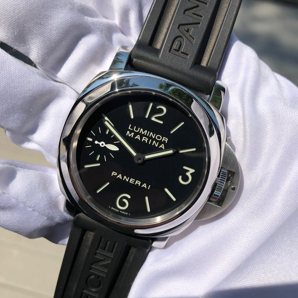 Panerai Luminor Marina PAM 111 Sandwich Dial Black 44mm Manual Wind Box Papers Circa 2012