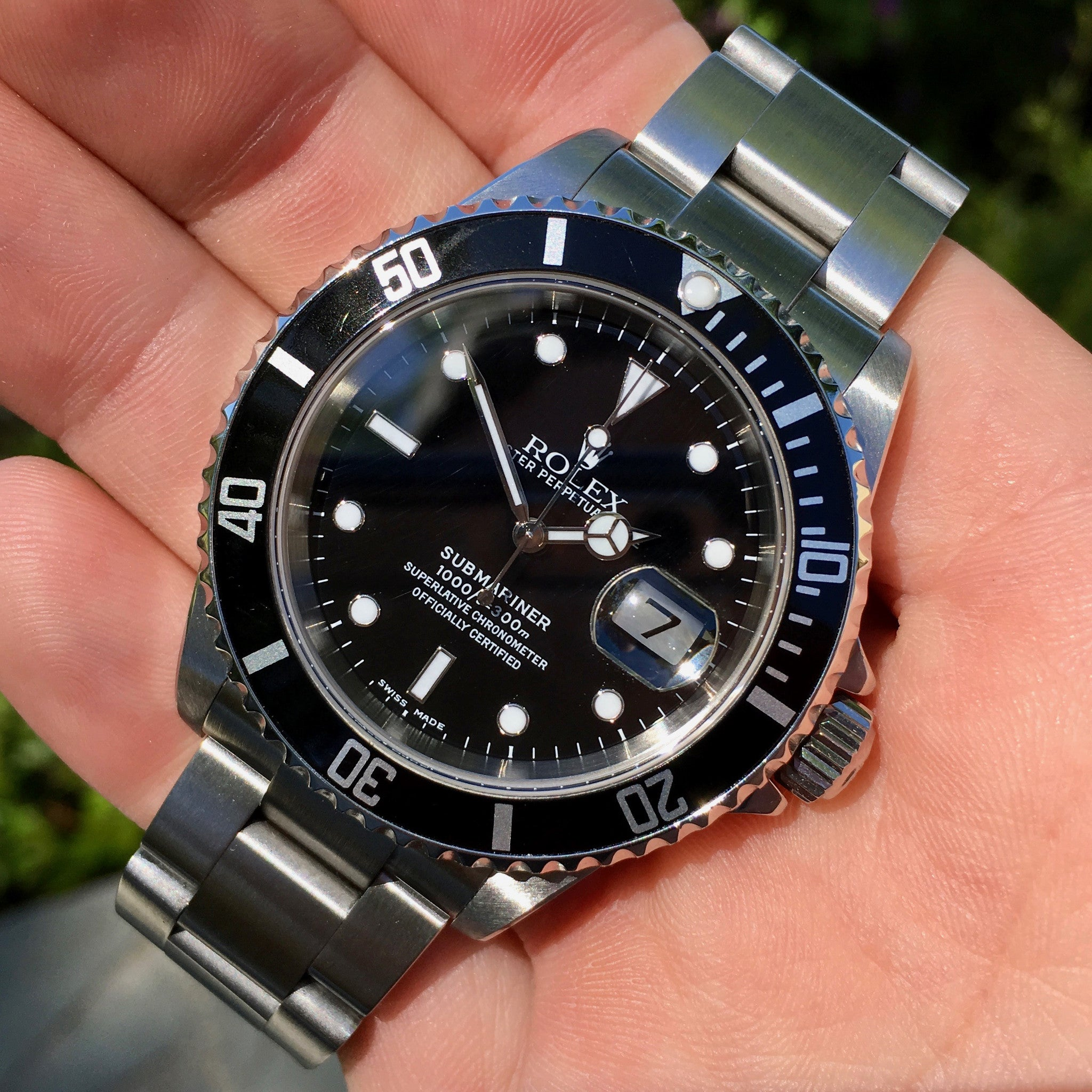 "Rolex Submariner 16610 Date Steel ""F"" Serial Circa 2003 Wristwatch MINT FULL KIT - Hashtag Watch Company"