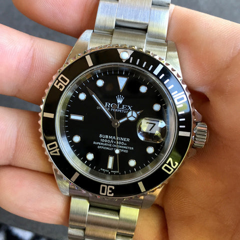 "Rolex Submariner 16610 Date Steel ""F"" Serial Circa 2003 Wristwatch MINT FULL KIT"