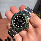 Rolex Submariner Date 16610LV 50th Anniversary Kermit Steel Full Set Box Papers Rehault Circa 2008 - Hashtag Watch Company