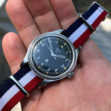 Vintage Smiths W10 British Military Black Cal. 60466E Wristwatch Circa 1970 - Hashtag Watch Company