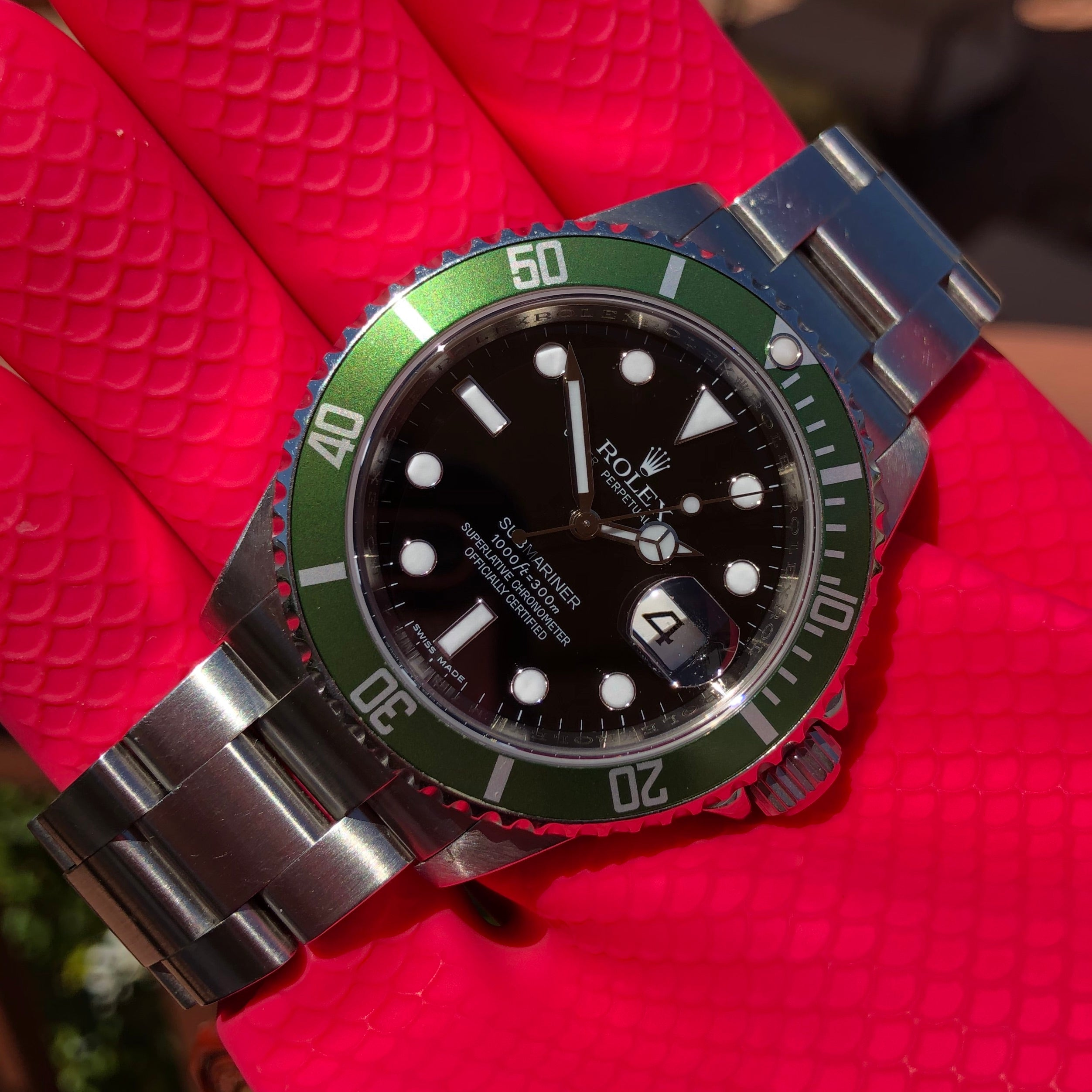 Rolex Submariner Date 16610LV 50th Anniversary Kermit Mk 8 Steel Full Set Box Papers Circa 2008 - Hashtag Watch Company