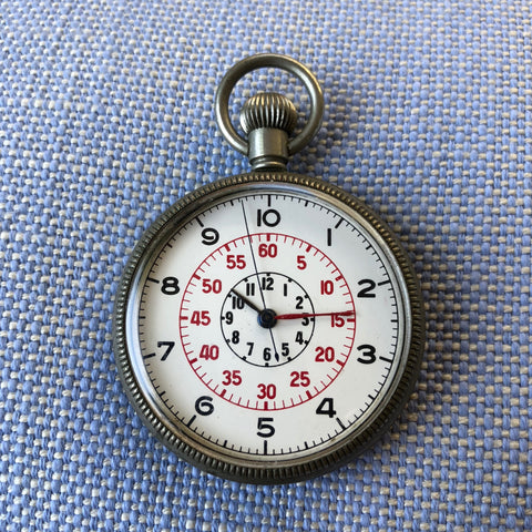 Vintage Zenith Royal Navy Deck H.S.3 WWII Military Pocket Watch