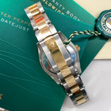 2021 Rolex Datejust 178243 Ladies Two Tone 31mm Midsize Black Stick Wristwatch Box Papers Factory Wrapped