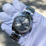 Rolex Datejust 116200 Oyster Perpetual Rhodium Roman Wristwatch Box & Papers - Hashtag Watch Company