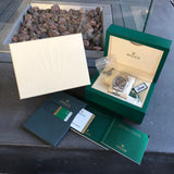 Rolex Datejust 116200 Oyster Perpetual Rhodium Roman Wristwatch Box & Papers