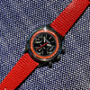 Vintage Wittnauer Professional 6002 Steel Valjoux 72 Chronograph Manual Black Red Exotic Dial Wristwatch - Hashtag Watch Company