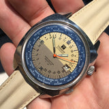 Vintage Tissot Navigator Seastar T12 24 HR World Time Cal. 798 Automatic Wristwatch - Hashtag Watch Company