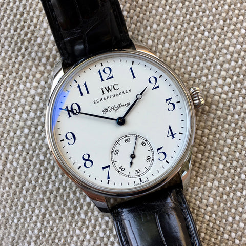 IWC Portuguese F.A. Jones 5442 Limited Edition 42mm Manual Wind Enamel Wristwatch