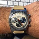 Vintage Zenith El Primero A3817 Stainless Steel Automatic Chronograph Wristwatch Circa 1971
