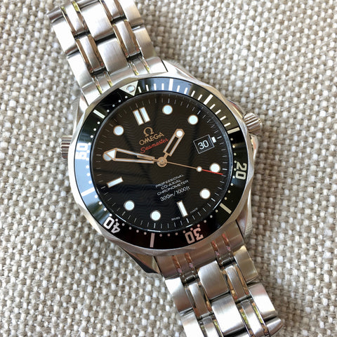 Omega Seamaster 212.30.41.20.01.002 Co-Axial 41mm Steel Black Wave Dial Wristwatch Box and Papers