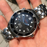 Omega Seamaster 212.30.41.20.01.002 Co-Axial 41mm Steel Black Wave Dial Wristwatch Box and Papers - Hashtag Watch Company