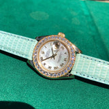 Rolex Pearlmaster Datejust Masterpiece 69298 MOP Diamond Bezel 18K Gold Box & Papers