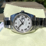 Rolex Datejust 116200 Oyster Perpetual White Roman 36mm Wristwatch Box & Papers