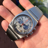 Vintage Movado Astronic HS360 Super Sub Sea El Primero Chronograph Stainless Steel Wristwatch