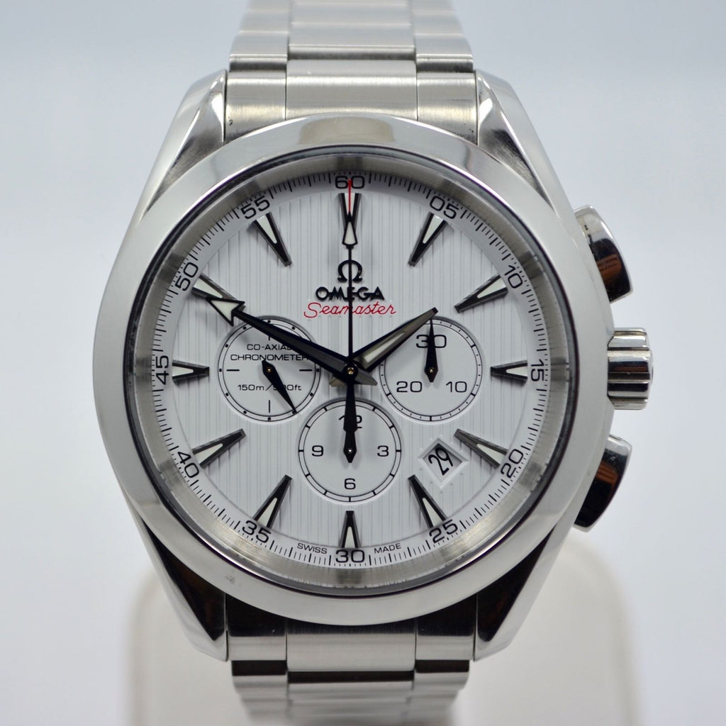 Omega Seamaster Aqua Terra 231.10.44.50.04.001 Chronograph Steel Co-Axial Watch - Hashtag Watch Company