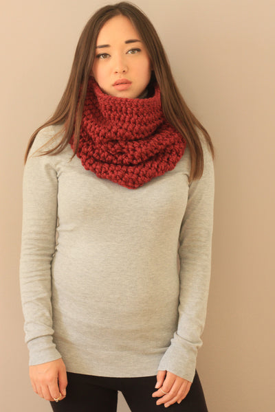 burgundy rich colorful cowl wool winter fall