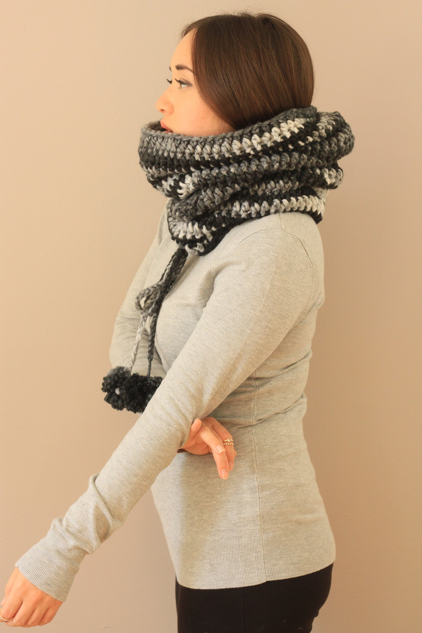 scarf warm cowl fun winter fashion trendy