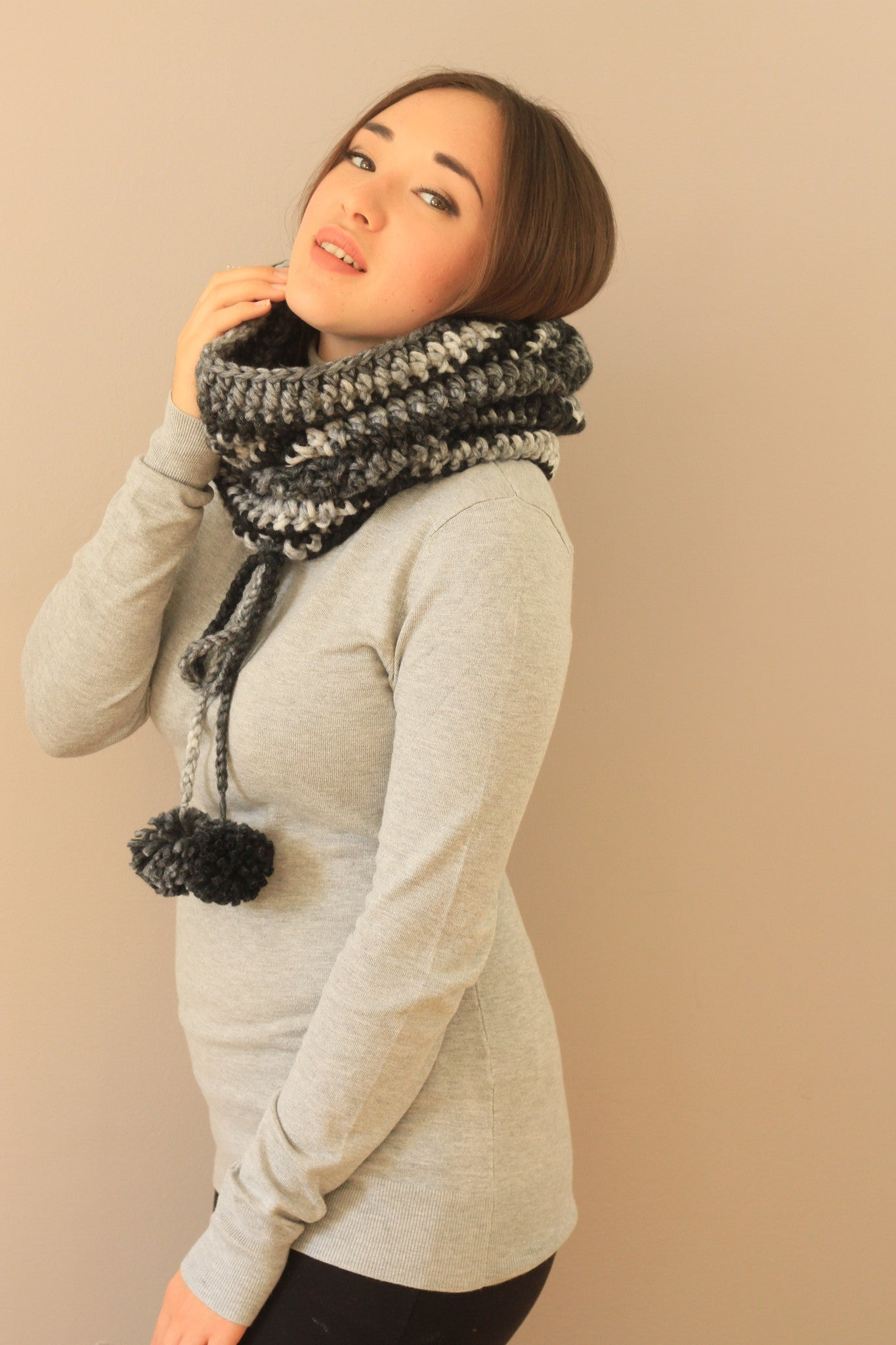 fun warm cowl handmade cozy fall winter miyuki crochet canada