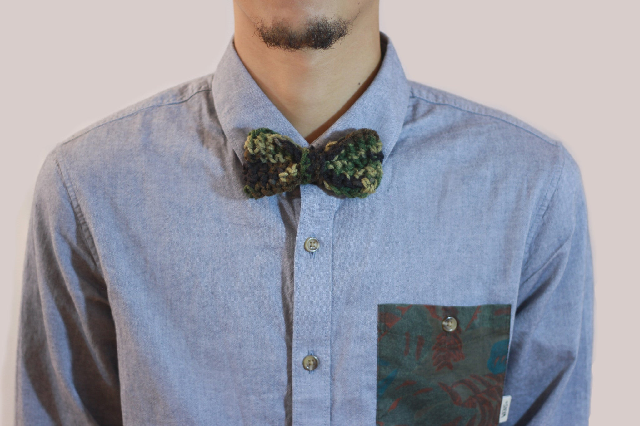 Mens bow tie army print camo clip on bow tie handmade crochet army bow ties clip on ties ccuart Images