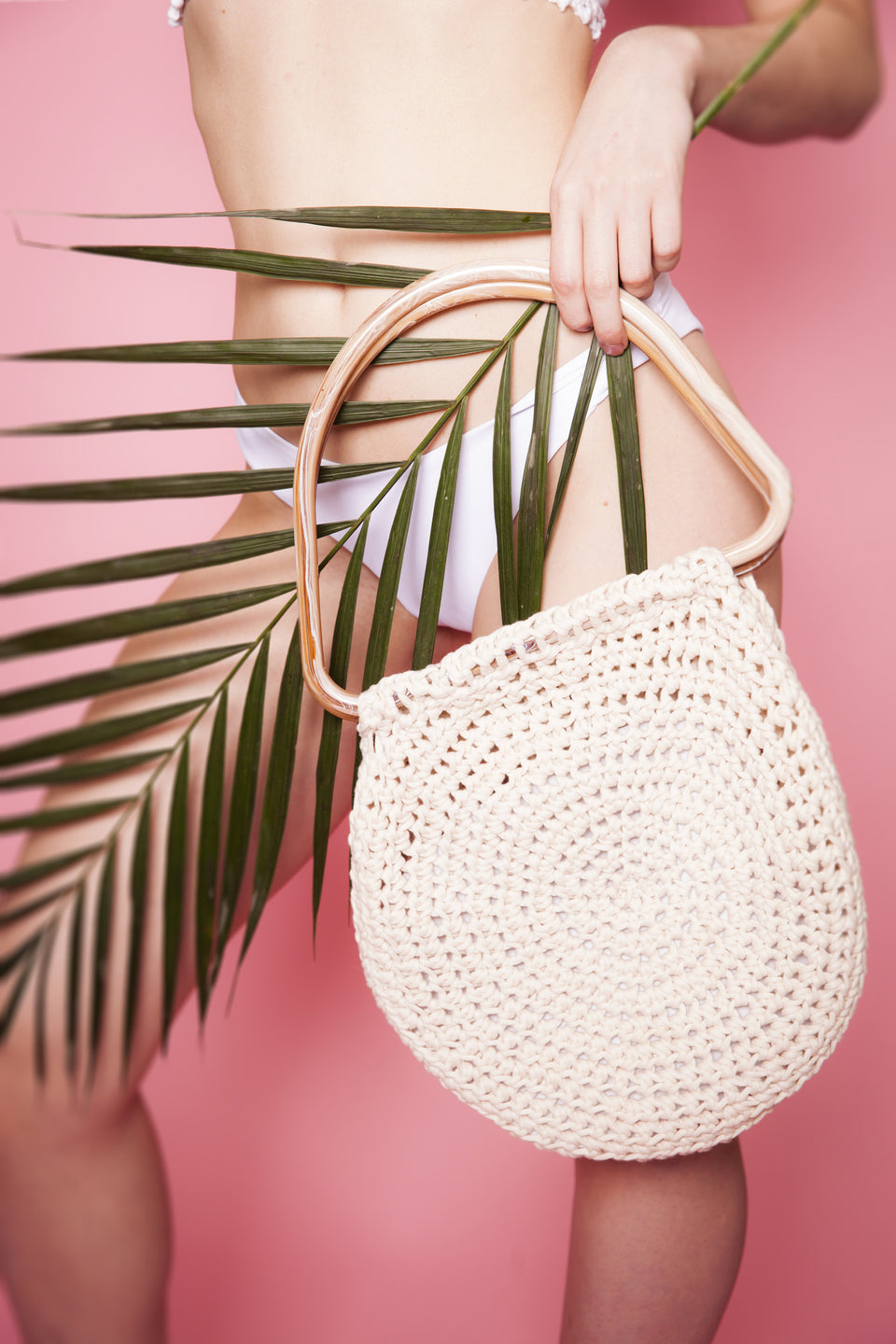 Miyuki Crochet Basket Purse with wide handles boho stylish trendy 2018
