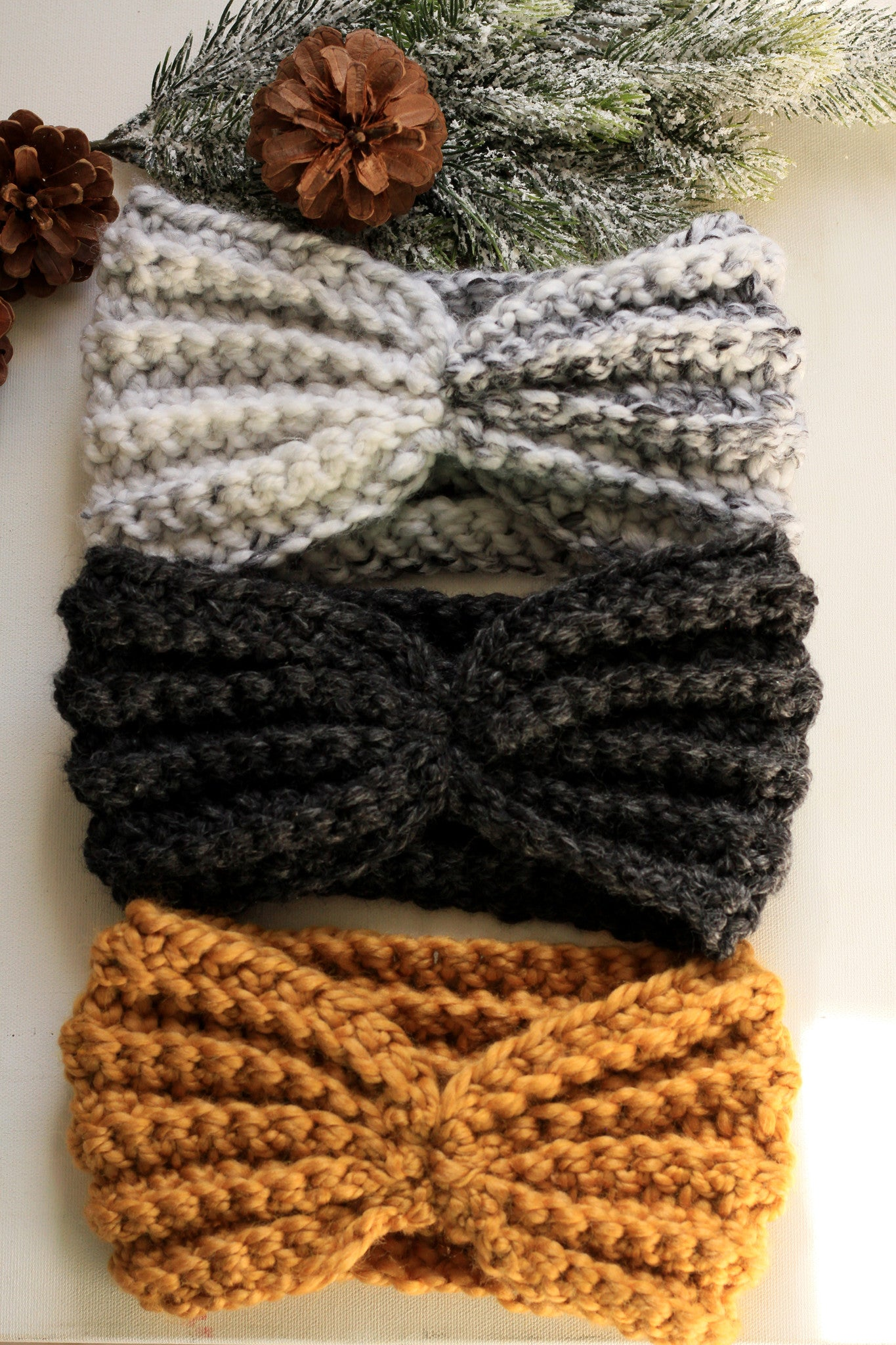 Gift Set 3 Wool Headband ear Warmers + More Colors Available