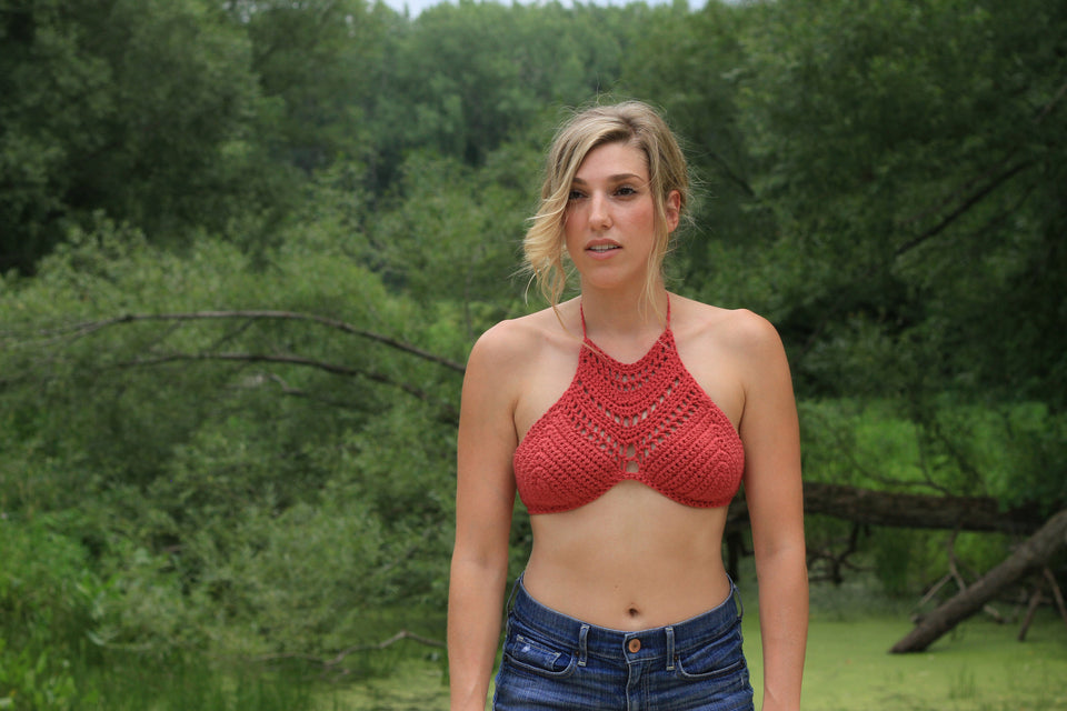 Detailed Halter Top