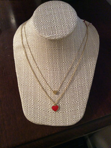 Double Heart Necklace - Two Elle's Boutique
