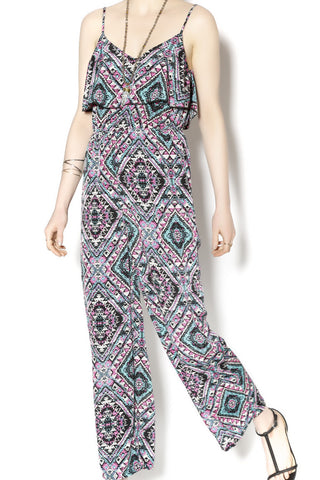 Print Jumpsuit - Two Elle's Boutique  - 1