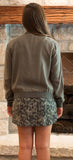 Bella Dahl Bomber Jacket, Castle Grey - Two Elle's Boutique