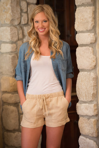Bella Dahl Perfect Linen Shorts - Two Elle's Boutique  - 1