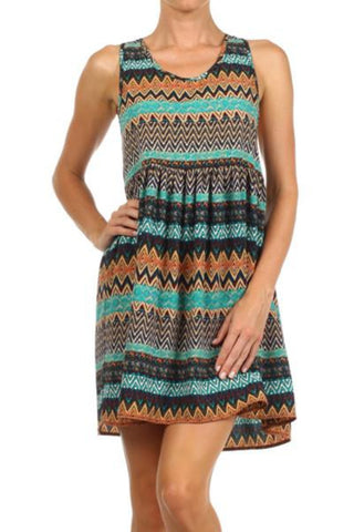 Freeway Stripe Print Tank Dress - Two Elle's Boutique  - 1