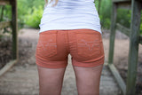 Texas Longhorns Cuffed Shorts - Two Elle's Boutique