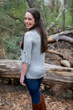 Fabulous Long Sleeve Tee, Grey - Two Elle's Boutique  - 3