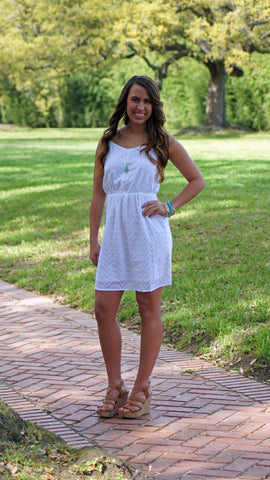 Little White Dress - Two Elle's Boutique  - 1