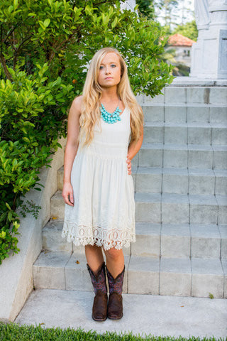 Augustine White Dress - Two Elle's Boutique  - 1