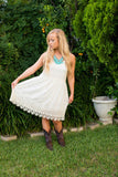 Augustine White Dress - Two Elle's Boutique