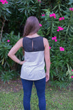 Grey & Black Tank - Two Elle's Boutique  - 2