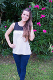 Grey & Black Tank - Two Elle's Boutique  - 1