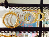 Circle Earring, Small - Gold or Silver - Two Elle's Boutique  - 3