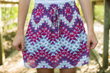 Fuchsia Chevron Woven Skirt - Two Elle's Boutique  - 2