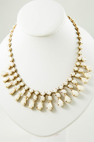 White Statement Necklace - Two Elle's Boutique