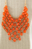 Beaded Bib Necklace - Two Elle's Boutique  - 1