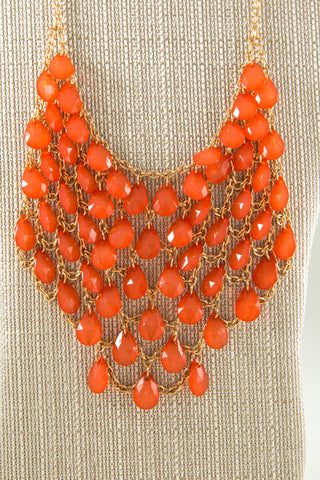 Beaded Bib Necklace - Two Elle's Boutique