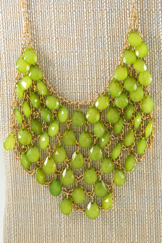 Beaded Bib Necklace - Two Elle's Boutique  - 6