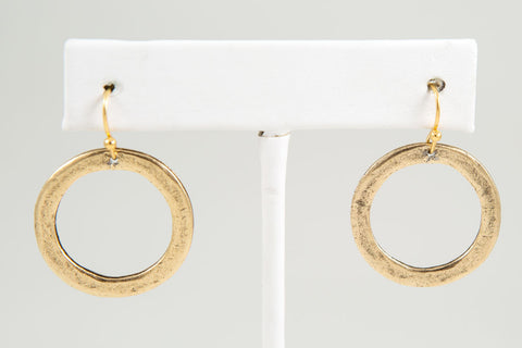 Circle Earring, Small - Gold or Silver - Two Elle's Boutique