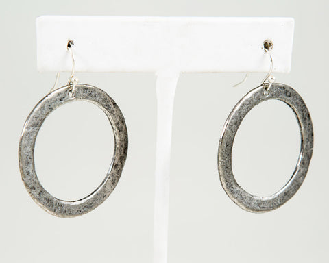 Circle Earring, Large - Gold or Silver - Two Elle's Boutique
