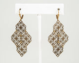 Filigree Earrings, Brass or Silver - Two Elle's Boutique  - 2